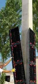 Coffrage de poteau GEOTUBE PANELLO haut.75cm larg.55cm - Gedimat.fr