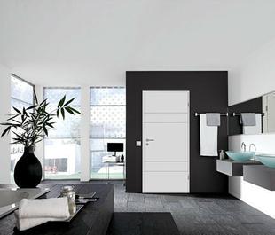 Bloc-porte laqué HANOVRE huisserie cloison 70 à 83mm finition blanc haut.204cm larg.73cm gauche poussant - Gedimat.fr