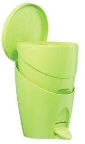 Poubelle WC COLOR LINE coloris vert anis - Gedimat.fr