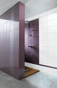 Carrelage pour mur en faïence GARDEN dim.25x40cm coloris malva - Gedimat.fr