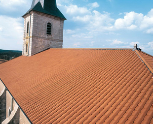 Tuile terre cuite COURANT LTS STOP coloris rouge - Gedimat.fr