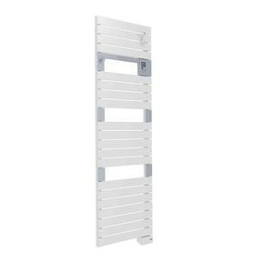 Radiateur sèche-serviettes ASAMA Long.55cm Haut.141cm Ép.9cm coloris Blanc 750W SAUTER - Gedimat.fr