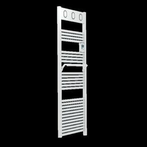 Radiateur sèche-serviettes MARAPI Long.50cm Haut.144cm Ép.13 cm coloris Blanc 750W - Gedimat.fr