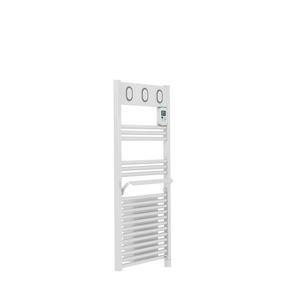 Radiateur sèche-serviettes MARAPI VENTILO Long.50cm Haut.108cm Ép.13cm coloris Blanc 1500W SAUTER - Gedimat.fr