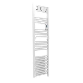 Radiateur sèche-serviettes MARAPI VENTILO Long.50cm Haut.144cm Ép.13cm coloris Blanc 1750W SAUTER - Gedimat.fr
