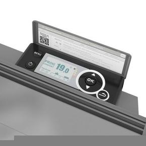 Radiateur à inertie sèche MALAO 1500W Haut.60,7cm larg.93,1cm prof.14,5cm Gris - Gedimat.fr