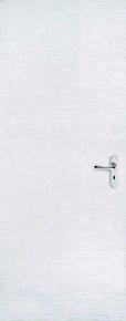 Bloc-porte isolant matricé BANQUISE prépeint à recouvrement huisserie Créaconfort 88x55mm droit poussant - 204x73cm - serrure 3 points - Gedimat.fr