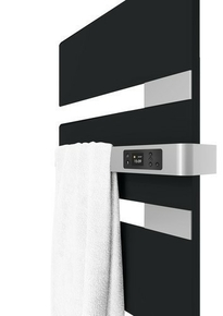 Radiateur sèche-serviettes ALUTU mat droite coloris Anthracite750W SAUTER - Gedimat.fr