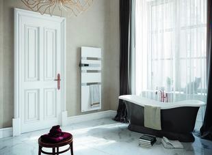 Radiateur sèche-serviettes ALUTU mat gauche coloris Blanc 1750W SAUTER - Gedimat.fr