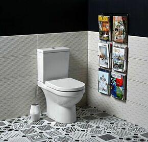 Pack WC S50 Long.39cm Haut.82,5cm prof.65,5cm Coloris blanc - Gedimat.fr