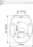 Abattant WC thermodur BAMBINO blanc - Gedimat.fr