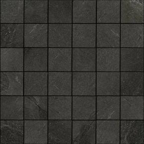 Mosaïque Noir X-ROCK en grès cérame 30x30cm - Gedimat.fr