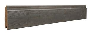 Bardage Zéphyr Long.4,15m larg.125mm utile Ép.20mm Coloris Gris - Gedimat.fr