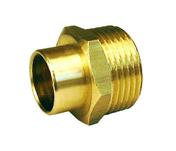 Raccord fer-cuivre droit laiton brut mâle diam.12x17mm à souder diam.12mm 1 pièce - Poutre VULCAIN section 25x50 cm long.4,00m pour portée utile de 3,1 à 3,60m - Gedimat.fr