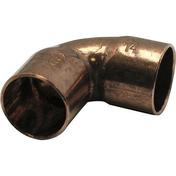Coude cuivre à souder femelle-femelle petit rayon 90CU angle 90° diam.14mm sous coque de 2 pièces - Réduction conique de même diamètre émaillé diam.180-180mm - Gedimat.fr