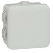 Boîte de dérivation LEGRAND PLEXO étanche carrée 80x80mm haut.45mm coloris gris - Modulaires - Boîtes - Electricité & Eclairage - GEDIMAT
