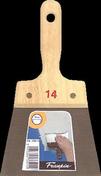 Couteau à enduire acier Pro manche bois brut 14cm - Couteau à enduire et jointer les bandes inox larg.30cm - Gedimat.fr