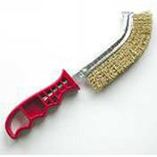 Brosse fil d'acier ondulé laitonné - Couteau à enduire lame inox trempé manche polypropylène larg.18cm - Gedimat.fr