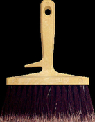 Brosse à encoller fibres PVC manche et semelle monobloc polypropylène ép.6cm larg.15cm - Tuile à douille CANAL MIDI diam.100mm coloris rouge - Gedimat.fr