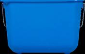 Seau rectangulaire pro polypropylène anse métallique 8,5 litres - Chainage horizontale long.50cm section de 20x30cm - Gedimat.fr