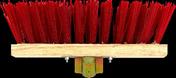 Balai de cantonnier fibres PVC vertes semelle bois 32cm - Manche à balai de cantonnier droit bois brut long.1,4m en vrac 1 pièce - Gedimat.fr