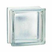 Brique de verre 198 ép.8cm dim.19x19cm satinée - Tuile CANAL coloris rouge - Gedimat.fr