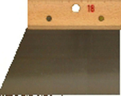 Couteau à colle lame acier dents triangulaires 2x1,5mm manche bois brut long.18cm - Outillage du carreleur - Revêtement Sols & Murs - GEDIMAT