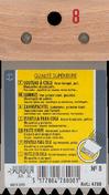 Couteau à colle lame acier dents trapézoïdales 5,5x3,5x5mm manche bois brut long.8cm - Outillage du carreleur - Revêtement Sols & Murs - GEDIMAT