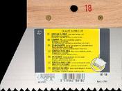 Couteau à colle lame acier dents trapézoïdales 5,5x3,5x5mm manche bois brut long.18cm - Lissarde à béton plateau aluminium larg.34,5cm long.1,40m - Gedimat.fr