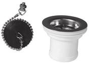 Bonde d'évier sans trop plein avec chainette diam.50mm - Vidages - Plomberie - GEDIMAT