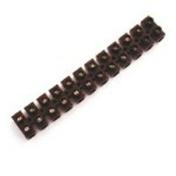 Barrette de connection électrique nylbloc 12 bornes coloris noir capacité 10mm² - Bande de chant mélaminé non encollé ép.4mm larg.23mm long.100m Airelle - Gedimat.fr