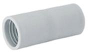 Manchon droit pour tube IRL coloris gris diam.25mm en sachet de 4 pi�ces - Gaines - Tubes - Moulures - Electricit� & Eclairage - GEDIMAT