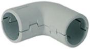 Coude �querre pour tube IRL coloris gris diam.20mm en sachet de 3 pi�ces - Gaines - Tubes - Moulures - Electricit� & Eclairage - GEDIMAT