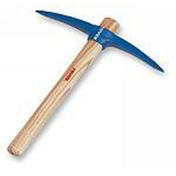 Martelette à 2 pics acier chromé 750g manche bois frêne verni 37cm - Truelle italienne ronde manche bi matière diam.24cm - Gedimat.fr