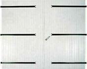 Porte de garage 2 vantaux en PVC haut.2,0m larg.2,40m blanc - Lanterne bi-section diam.120/150mm coloris rouge ancien - Gedimat.fr