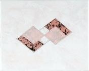 Décor Inserto carrelage pour mur en faïence TRAMA larg.20cm long.25cm coloris rosa - Carrelages murs - Cuisine - GEDIMAT