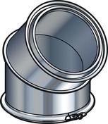 Elément coudé à 45° pour conduit isolé inox-galva diam.180mm intérieur - Tubages rigides - Chauffage & Traitement de l'air - GEDIMAT