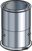 Elément droit réglable de conduit isolé inox-galva haut.35 à 45cm diam.200mm intérieur - Tubages rigides - Couverture & Bardage - GEDIMAT