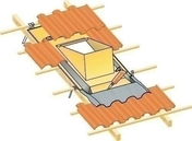 Embase d'étanchéité MU ocre pour sortie de toit polyvalente SHP sur toiture en tuiles avec pente de 30 à 50% - Tuile châtière RUSTIQUE NORMANDE coloris sable normand - Gedimat.fr