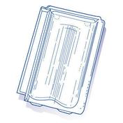 Tuile de verre ST FOY PROVINCIALE long.39,3cm larg.25cm - Tuiles et Accessoires - Couverture & Bardage - GEDIMAT