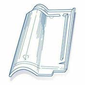 Tuile de verre ROMANE long.42,5cm larg.27cm - Plan de travail stratifié ép.38mm larg.1,2m long.4,1m R4 décor alu - Gedimat.fr