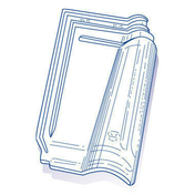 Tuile de verre MERIDIONALE long.44,3cm larg.27,3cm - Liteau Sapin du Nord brut section 32x32mm long.2,40m - Gedimat.fr