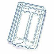 Tuile de verre H14 HUGUENOT long.44,5cm larg.25cm - Montant acier galvanisé PREGYMETAL 90-35/6 larg.90mm long.5,00m - Gedimat.fr