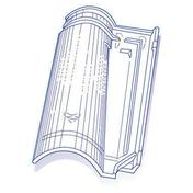 Tuile de verre ABEILLE long.48,5cm larg.32,5cm - Tuiles et Accessoires - Couverture & Bardage - GEDIMAT