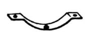 Demi-collier zoc pour suspension sur poutre bois - Accessoires plafonds - Isolation & Cloison - GEDIMAT