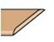 Chant plat de finition créatif ép.6mm larg.3,5cm long.2,60m pin de turin - Plan de travail stratifié ép.28mm larg.0,61m long.2,90m R4 décor gris alu - Gedimat.fr