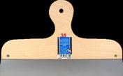 Couteau à enduire projeté inox manche contreplaqué 7 plis long.35cm - Cuve ronde CIRCLE diam.48,5cm inox - Gedimat.fr