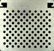 Grille à peinture acier galvanisé 270x245mm - Porte d'entrée NOEMIE Aluminium laqué avec isolation totale de 160mm droite poussant haut.2,15m larg.90cm gris - Gedimat.fr