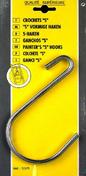 Crochet S acier nickelé ouverture 75mm long.155mm carte de 2 pièces - Taquets d'assemblage en PVC blanc par lot de 32 - Gedimat.fr