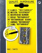 Lame rectangle pour gratte carreaux étui de 10 pièces - Outillage du carreleur - Outillage - GEDIMAT